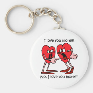 Funny love basic round button key ring