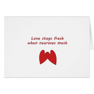 Funny love & neurosis notecard