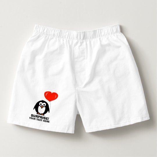 b3516a65fb1 Funny love penguin boxer shorts underwear for men boxers