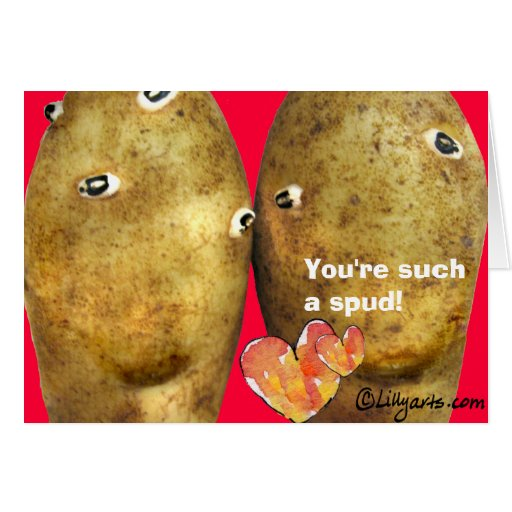 Funny Love Potatoes Valentine Card