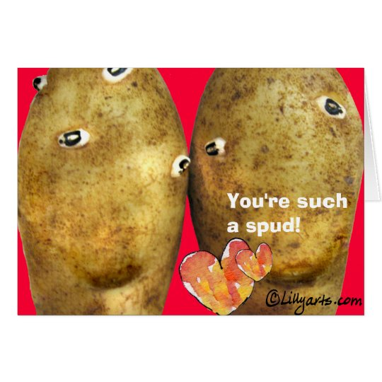 Funny Love Potatoes Valentine Card