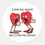 Funny love round sticker