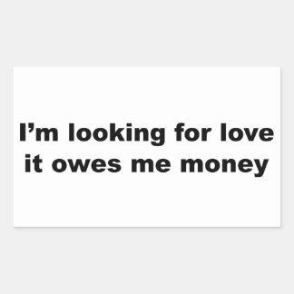 Funny Love Slogan Rectangular Sticker