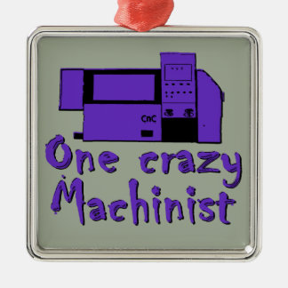 Funny Machinist Christmas Ornament