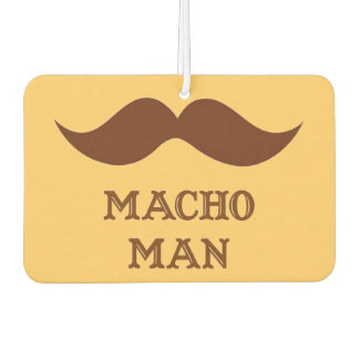 Funny Macho Man Mustache Car Air Freshener