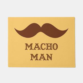 Funny Macho Man Mustache Doormat