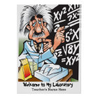 Funny Mad Scientist Teacher Welcome Poster
