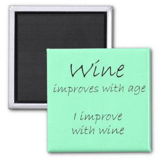 Funny magnets birthday humor wine joke saying gift