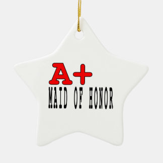 Funny Maids of Honor : A+ Maid of Honor Christmas Ornament