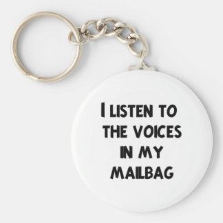 Funny Mail Carrier T-shirts and Gifts Basic Round Button Key Ring