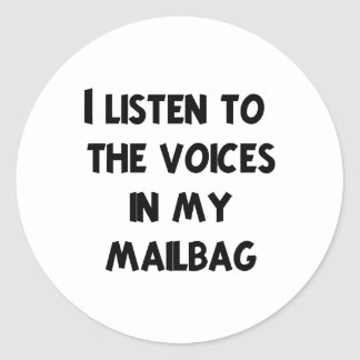 Funny Mail Carrier T-shirts and Gifts Classic Round Sticker