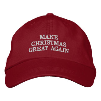 Funny Make Christmas Great Again Hats Embroidered Cap