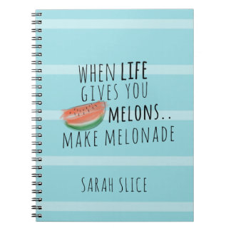 Funny Make Melonade Life Quote Personalized Notebook