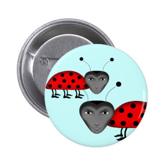 Funny male buglets 6 cm round badge