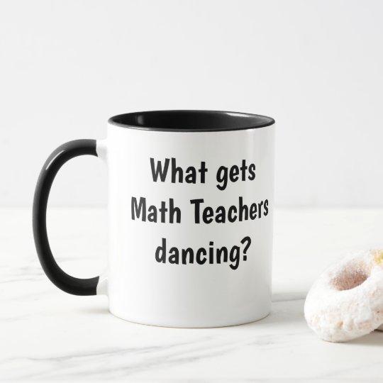 Funny Male Math Teacher Mug Logarithm Joke Pun