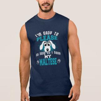 Funny Maltese Dog Owners Sleeveless Shirt