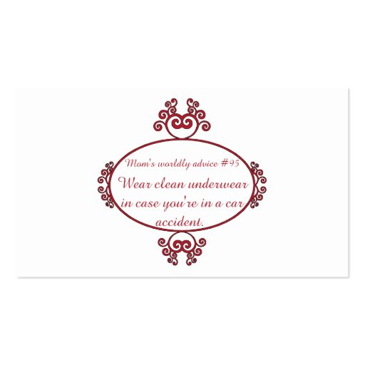 Funny Mama quotes on t-shirts & gifts for her. Business Card