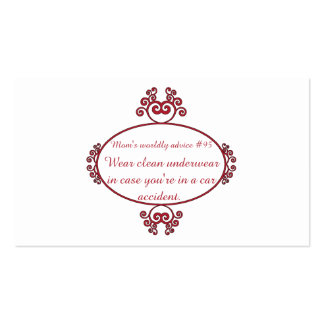 Funny Mama quotes on t-shirts & gifts for her. Pack Of Standard Business Cards