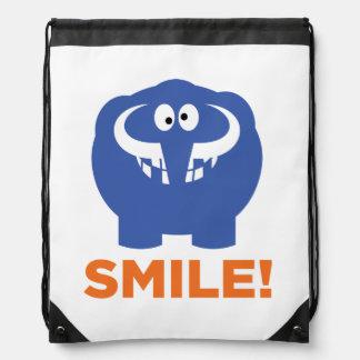 Funny mammoth life. drawstring bag