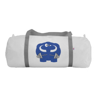 Funny mammoth life. gym duffel bag