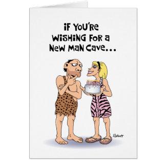 Funny Man Cave Birthday Card