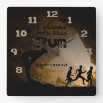 Funny Man Cave I thought they said Rum Square Wall Clock