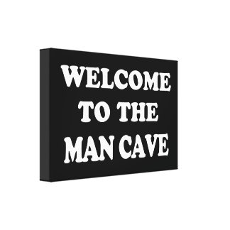 Funny Man Cave Wrapped Canvas