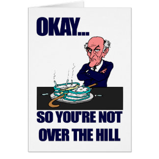 Funny Man's Over the Hill Birthday Greeting Card