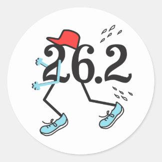 Funny Marathon 26.2 © Gift for Runner Round Sticker