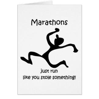 Funny marathon greeting card