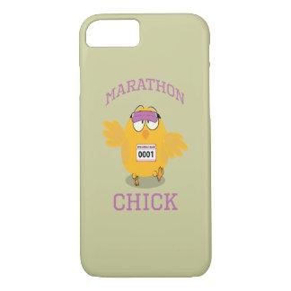 Funny Marathon Chick iPhone 7 Case