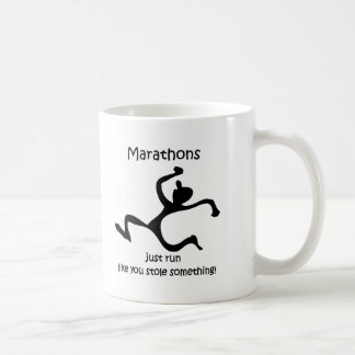 Funny marathon coffee mug