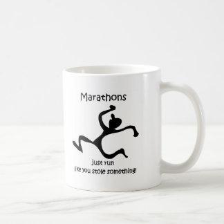 Funny marathon coffee mugs