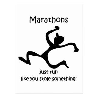 Funny marathon post cards