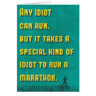 Funny Marathon Running Quote Card