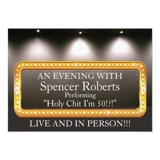 Funny Marquee Birthday Invitation