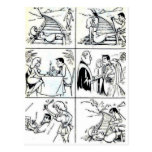 Funny Marriage/Dating Relationship Cycle Postcard