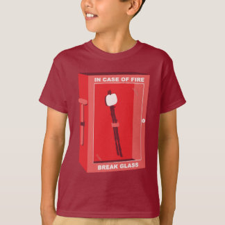 Funny Marshmallow Cartoon - In Case Of Fire T-Shirt