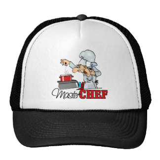Funny Master Chef Gift Mesh Hat