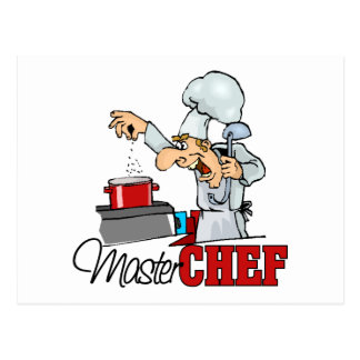 Funny Master Chef Gift Postcard
