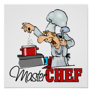 Funny Master Chef Gift Poster