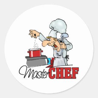 Funny Master Chef Gift Round Sticker