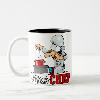 Funny Master Chef Gift Two-Tone Coffee Mug