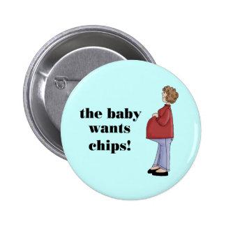 Funny Maternity Design 6 Cm Round Badge