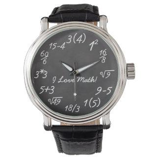 Funny Math Geek Wrist Watches