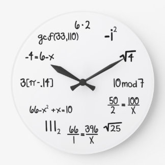 Funny Math Genius Geek Wallclocks