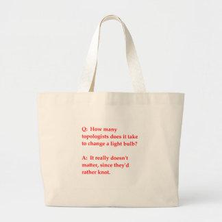 funny math joke canvas bag