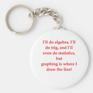 funny math joke basic round button key ring