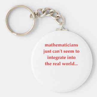 funny math joke basic round button key ring