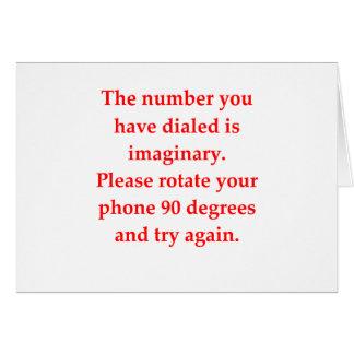 funny math joke card